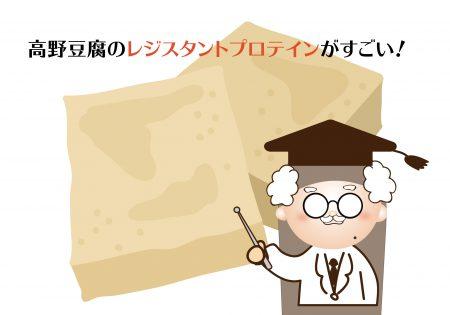 高野豆腐のレジスタントプロテインが糖の吸収を抑える!糖尿病に効果的!